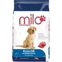 Milo Kuzu Etli&Pirinçli Yavru Köpek Maması 3 kg