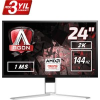 "AOC AGON AG241QX 23.8"" 144 Hz 1ms (Analog+DVI-D+HDMI+Display) FreeSync QHD Oyuncu Monitörü"