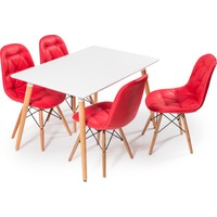 Hamdeko Masa Sandalye Takımı Kırmızı