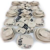 Keramika Retro 40 Parça 6 Kişilik Yemek ve Kahvaltı Takımı