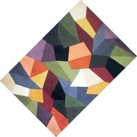 Cici Halı Renkli Geometrik Şekiller Dekoratif Halı-80x150