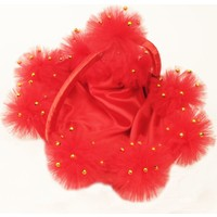 Yavuz Kına Gecesi Kına Sepeti Ponponlu Boncuklu Kırmızı ( 25 cm * 35 cm )
