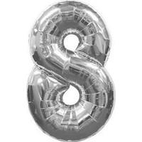 PartiBulutu 8 Rakam Gümüş Folyo Balon 70 cm