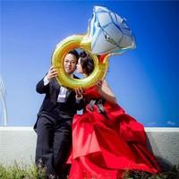 Chavin Büyük Evlilik Teklifi Tek Taş Aşk 84 Cm. Folyo Balon Cin57