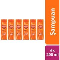 Elidor Onarıcı Yeniden Yapılandırıcı Şampuan 200 ml x 6