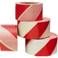 Kos Kırmızı - Beyaz İkaz Bandı - Emniyet Şeridi 500 Metre