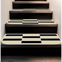 Rugrita Piyano Yuvarlak Kenar Kaydırmaz Taban Merdiven Kaplaması 5li 27x66cm