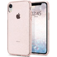 Spigen Apple iPhone XR Kılıf Liquid Crystal Glitter Rose Quartz - 064CS24868