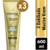 Pantene 3 Minute Miracle Saç Bakım Kremi Güç ve Parlaklık 3 x 200 ml