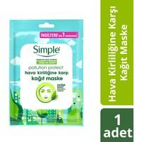 Simple Kind To Skin Hassas Ciltlere Uygun Protect Hava Kirliliğine Karşı Kağıt Maske 21 Ml