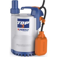 Pedrollo Top-3 Flatörlü Plastik Gövdeli Drenaj Dalgıç Pompa 10 Mss 15.6 M³/H