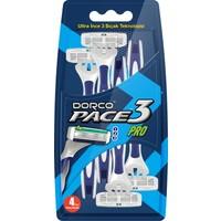 Dorco Pace 3 Pro Kullan-At Tıraş Bıçağı (4'lü)