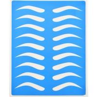 Ymr Kalıcı Makyaj Pratik Uygulaması İçin (Boş Kaş) Latex Şablonu (4 Adet)