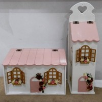 Papatya Hobi Evi Ahşap Ekmeklik Ve Poşetlik Takımı