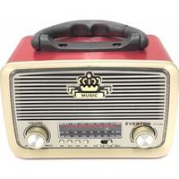 Everton Atasbey - Everton Vt-3101 Nostalji Şarjlı 3 Band Radyo Usb Sd Aux Mp3 Player