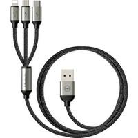 Mcdodo 3Lü 3.0A Hızlı Şarj Data Kablosu-İp+Type-C+Micro