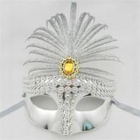Samur Gümüş Renk Venedik Parti Maskesi