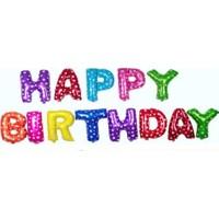 KBK Market Rengarenk Happy Birthday Folyo Harf Balon Seti