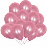KBK Market 25 Adet Metalik Lateks Balon Pembe Renk