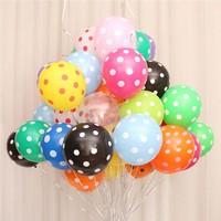 KBK Market 25 Adet Puantiyeli Lateks Balon Karışık Renk