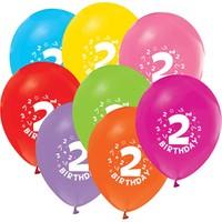 KBK Market 2 Yaş Baskılı Doğum Günü Balonu Karışık Renk 10 Adet