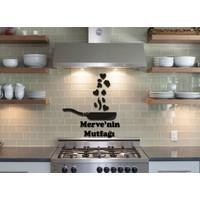 LazerAtölye Dekoratif Tava Mutfak Süsü Ahşap Siyah İsme Özel