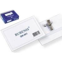 Rubenis Şeffaf İğneli Yaka Kartı Qn-001 50 Li (1 Paket 50 Adet)