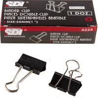 Sdi 0225 Double Metal Klips 25 Mm 12 Li (1 Paket 12 Adet)