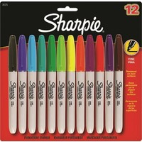 Sharpie Fine Permanent Markör, Ince Uç, Karışık Renkler, 12'li Blister