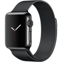 Apple Watch 38mm Uzay Siyahı Paslanmaz Çelik Kasa/Uzay Siyahı Milano Loop - MMFK2TU/A