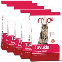 Milo Sokak Hayvanları İçin Tavuk ve Komple Besin Kedi Maması 1 kg x 5 adet