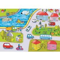 Eksen Şehirde Yaşam Ahşap 35 Parça Puzzle