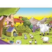 Eksen Doğa ve Hayvanlar 35 Parça Ahşap Puzzle