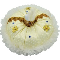 Can Sünnet Şapkalı Yuvarlak Sünnet Takı Yastığı Altın (35cm)