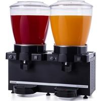 Samixir Twin Soğuk İçecek Dispenseri, 22+22 L, Panaromik, Analog, Karıştırıcılı, Siyah