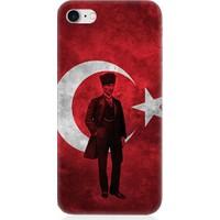 Teknomeg Apple iPhone 7 Mustafa Kemal ATATÜRK Desenli Tasarım Silikon Kılıf