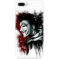 Teknomeg Apple iPhone 8 Plus V For Vendetta Desenli Tasarım Silikon Kılıf