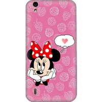 Teknomeg Vestel Venüs V3 5530 Minnie Mouse Ve Aşk Desenli Tasarım Silikon Kılıf
