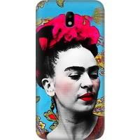 Teknomeg Samsung Galaxy J5 Pro Frida Kahlo Desenli Tasarım Silikon Kılıf