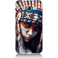 Teknomeg Samsung Galaxy J5 Kızıldereli Kız Desenli Tasarım Silikon Kılıf