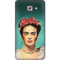 Teknomeg Samsung Galaxy J7 Max Frida Kahlo Desenli Tasarım Silikon Kılıf