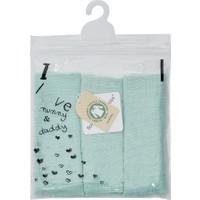 Babies These Days 3'lü Paket Organik Yeşil Müslin Ağız Mendili