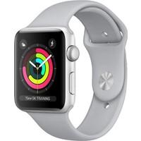 Apple Watch Seri 3 GPS 42 mm Gümüş Rengi Alüminyum Kasa ve Beyaz Spor Kordon - MTF22TU/A
