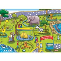 Eksen Hayvanat Bahçesi 35 Parça Ahşap Puzzle