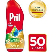 Pril Bulaşık Makinesi Deterjanı Gold Jel Yağ Çözücü 50 Yıkama