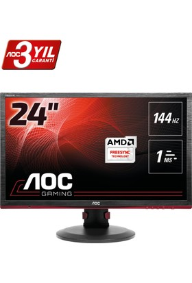 "AOC G2460PF 24"" 144 Hz 1ms (Analog+DVI+HDMI+Display) FreeSync Full HD Oyuncu Led Monitörü"