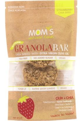 Mom'S Natural Foods Çilek Chia granola Bar 60 gr