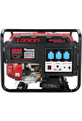 Loncin LC8000DAS Jeneratör 8kVA Marşlı