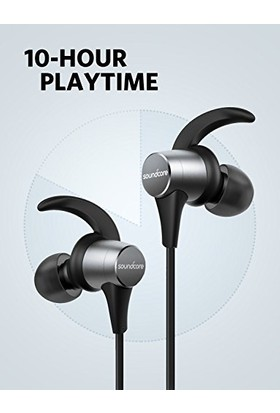 Anker SoundCore Spirit Pro Kablosuz Bluetooth Spor Kulaklık - IP68 - aptX Hi-Fi Ses - 10 Saat Şarj Süresi - Siyah - A34020F1