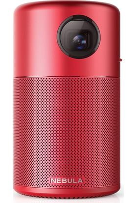 Anker Nebula Capsule Akıllı Taşınabilir WiFi Kablosuz Pico Projeksiyon Cihazı ve Hoparlör - Kırmızı - D4111191